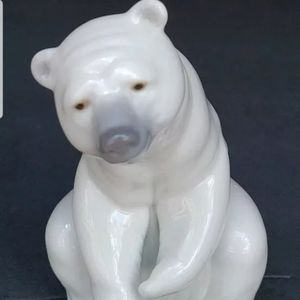 LLADRO Porcelain Figurine Polar Bear Spain White